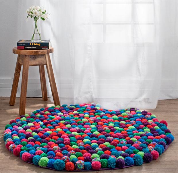 Einen Wunderschonen Und Gunstigen Pompom Teppich Selber Herstellen