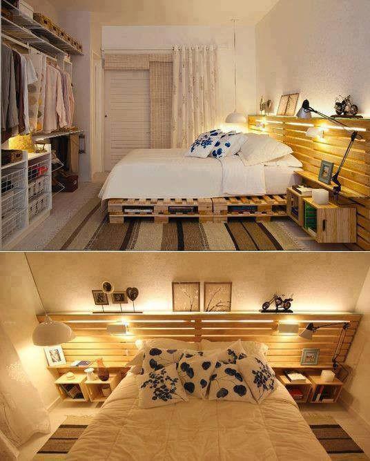 22 umwerfende Ideen für Betten, die ihr euch aus alten Paletten ...