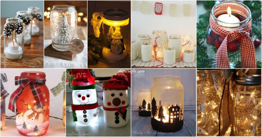 12 geniale tipps f r weihnachtsdeko aus einmachgl sern wodurch ihr geld sparen k nnt - Glaser dekorieren fur weihnachten ...