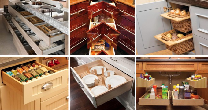 26 stauraum ideen f r die k che. Black Bedroom Furniture Sets. Home Design Ideas