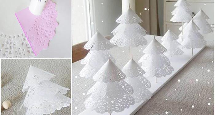 Diy Weihnachtsdeko.Diy Weihnachtsdeko Papierdeckchen Weihnachtsbäume Cooletipps De