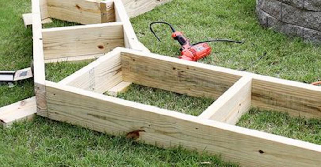 Building Cinder Block Bench And Firepit