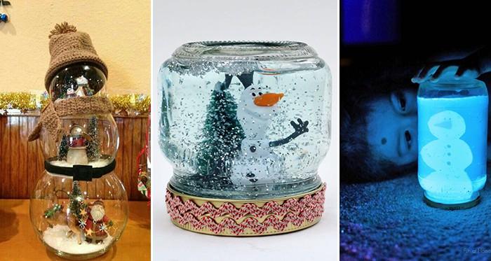 coole schneekugeln die eine richtige weihnachtsstimmung machen anleitung 10 inspirationen. Black Bedroom Furniture Sets. Home Design Ideas
