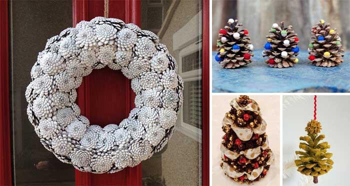 basteln mit tannenzapfen 13 einfache aber kreative ideen f r den weihnachtsbaumschmuck. Black Bedroom Furniture Sets. Home Design Ideas