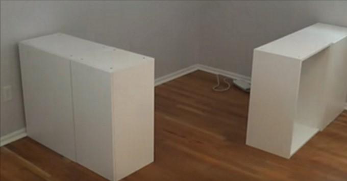 dieser herr kaufte ikea schr nke und machte daraus ein wunderbares platzsparendes bett. Black Bedroom Furniture Sets. Home Design Ideas